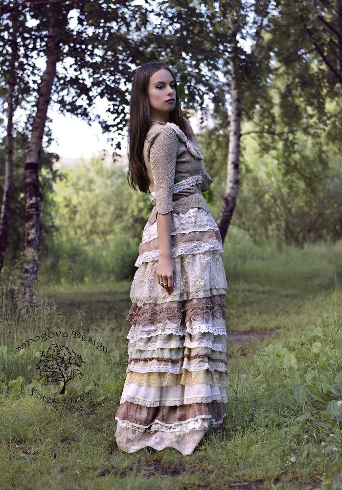юбка с кружевом