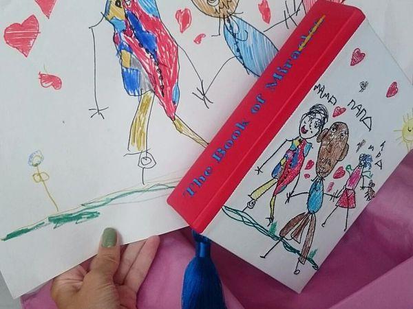 Рисунок ребенка и вышивка | Ярмарка Мастеров - ручная работа, handmade