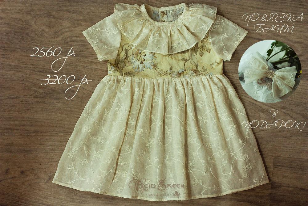 платье из хлопка, платье с вышивкой, авторское платье