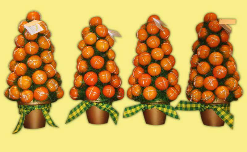Как сделать мандариновое елку