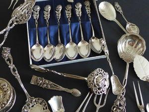 Столовое серебро дёшево- осталось пару дней!. Ярмарка Мастеров - ручная работа, handmade.