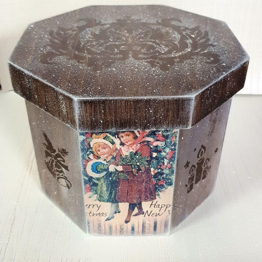 «В ожидании праздника»  короб для елочных игрушек, фото № 3
