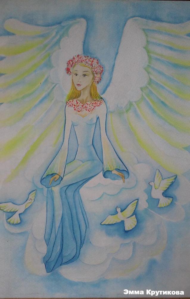 ангел-хранитель, ручная работа