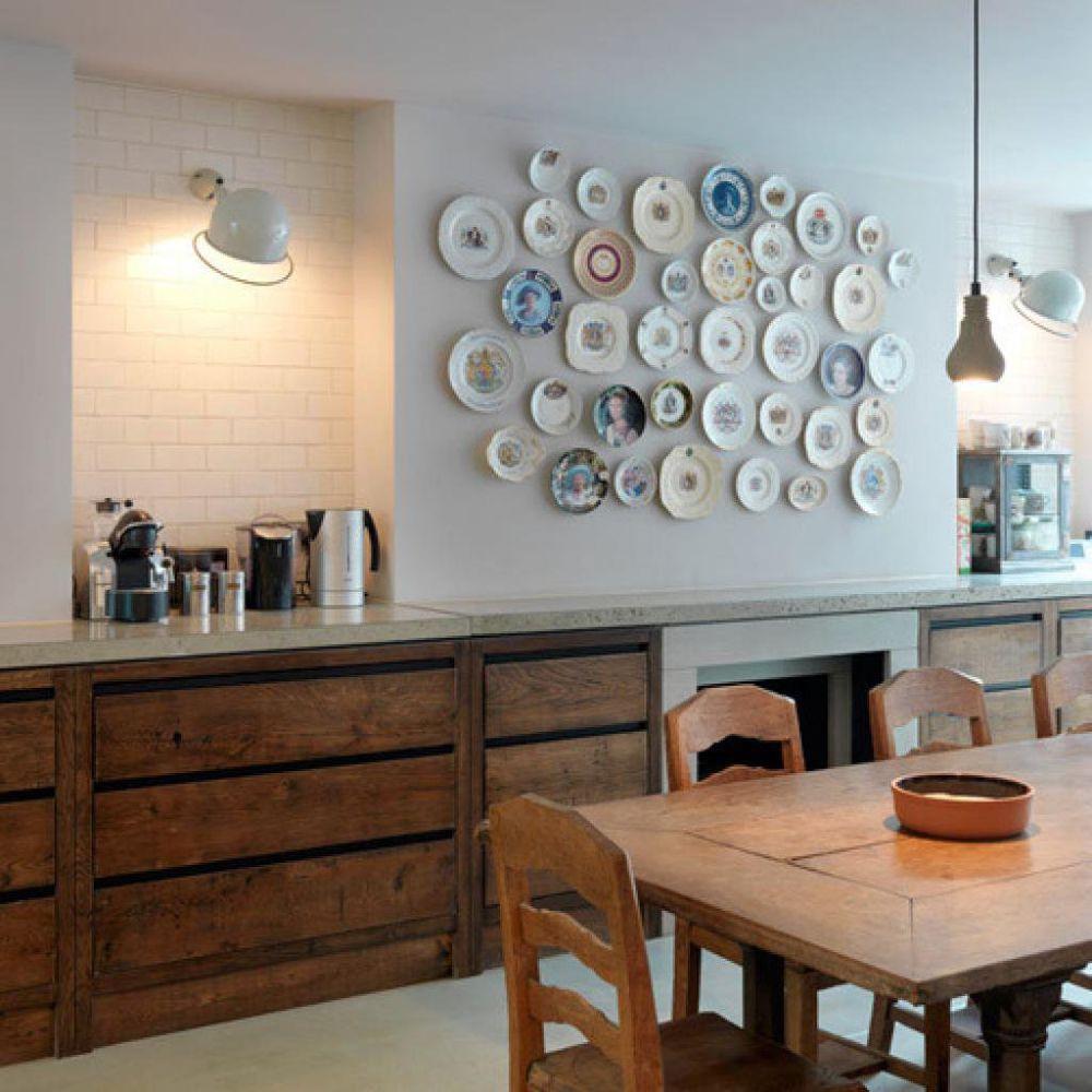 Идеи декорирования стен на кухне своими руками 48