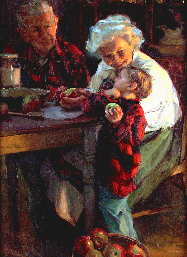 дети с дедушкой