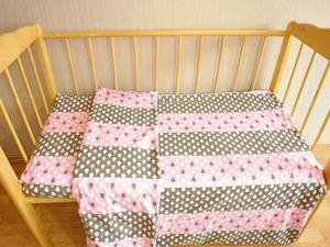 Как сшить постельное белье в детскую кроватку. Ярмарка Мастеров - ручная работа, handmade.