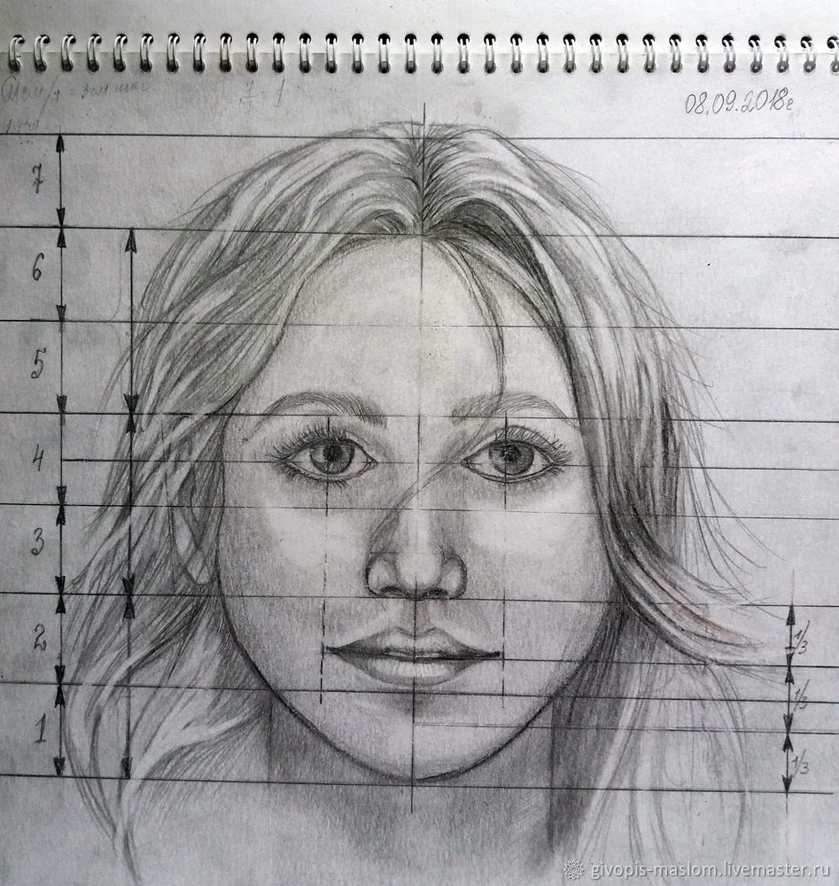 как правильно срисовывать с фотографии портрет понимать