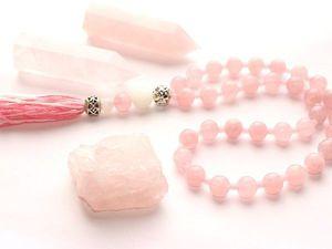 Медитация с розовым кварцем - очень приятная | Ярмарка Мастеров - ручная работа, handmade