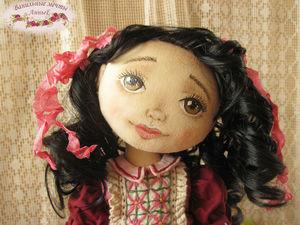 Кукла. Текстильная кукла. Авторская кукла. Интерьерная кукла. Нина. Ярмарка Мастеров - ручная работа, handmade.