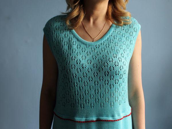Аукцион на вязаное платье. Старт 1500 руб   Ярмарка Мастеров - ручная работа, handmade