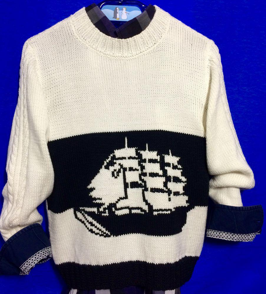 морской стиль, морская тема, свитер, свитер спицами