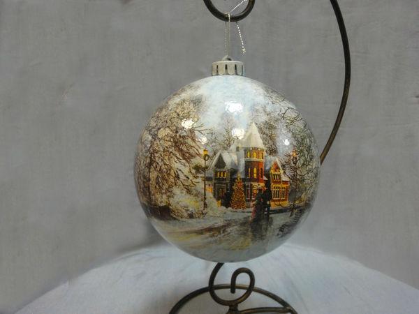 Большой Новогодний шар | Ярмарка Мастеров - ручная работа, handmade