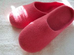 Тапочки-шлепанцы с гарбо-пяткой. Технология вставной пятки | Ярмарка Мастеров - ручная работа, handmade