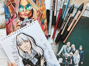 Катя Хотунцева (Katya Khot): скетч, зарисовка, иллюстрация. Ярмарка Мастеров - ручная работа, handmade.