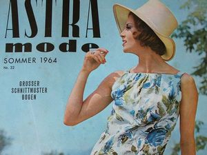 Astra mode- старый немецкий журнал мод -лето 1964. Ярмарка Мастеров - ручная работа, handmade.