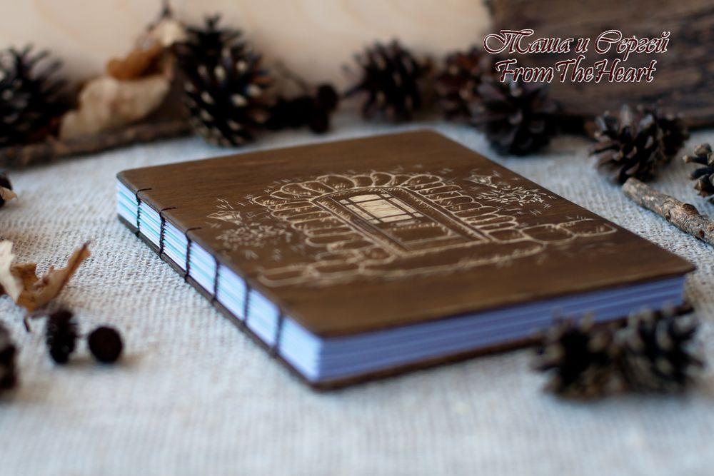 деревянный блокнот, шоколадный