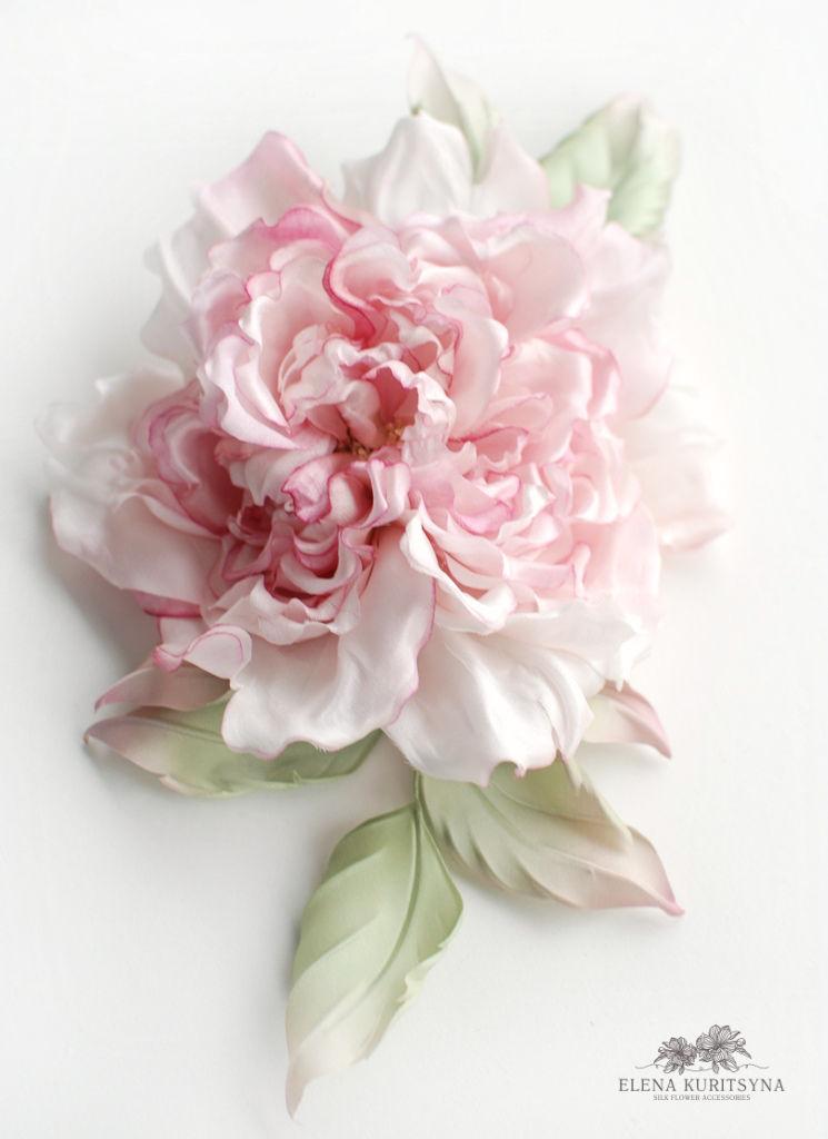 Создаем шелковую розу «Миранда» в японской технике omebana, фото № 2