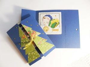 Щедрый аукцион. Новогодние открытки с нуля. Ручная вышивка крестом внутри открыток. Ярмарка Мастеров - ручная работа, handmade.