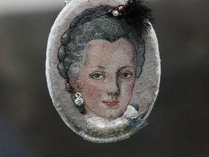 Вышивка. Портрет Марии.. Ярмарка Мастеров - ручная работа, handmade.