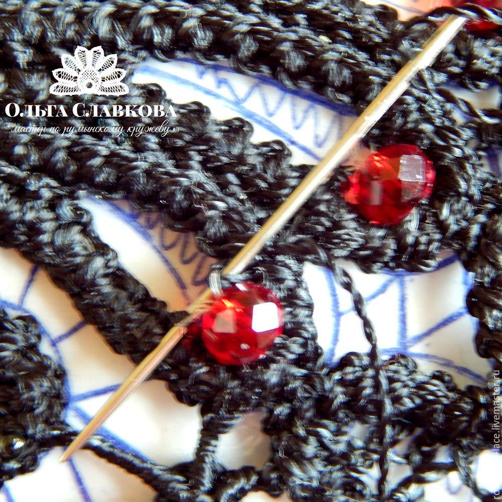 плетение с бусиной