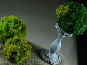 How to Decorate Candles with Stabilized Moss. Livemaster - handmade