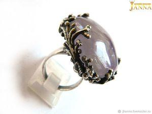 """Аметист. """"Riorita"""" кольцо с природным аметистом. Ярмарка Мастеров - ручная работа, handmade."""