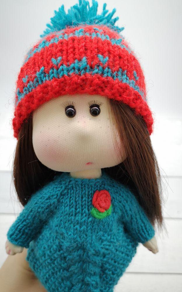 кукла ручной работы, кукла из ткани