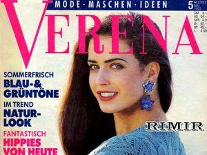 Verena № 5/1993. Содержание.. Ярмарка Мастеров - ручная работа, handmade.