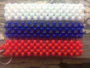 Плетем брелок «Флаг России» в технике «монастырское плетение». Ярмарка Мастеров - ручная работа, handmade.