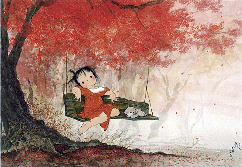 позитивные картинки японского художника жизни нам