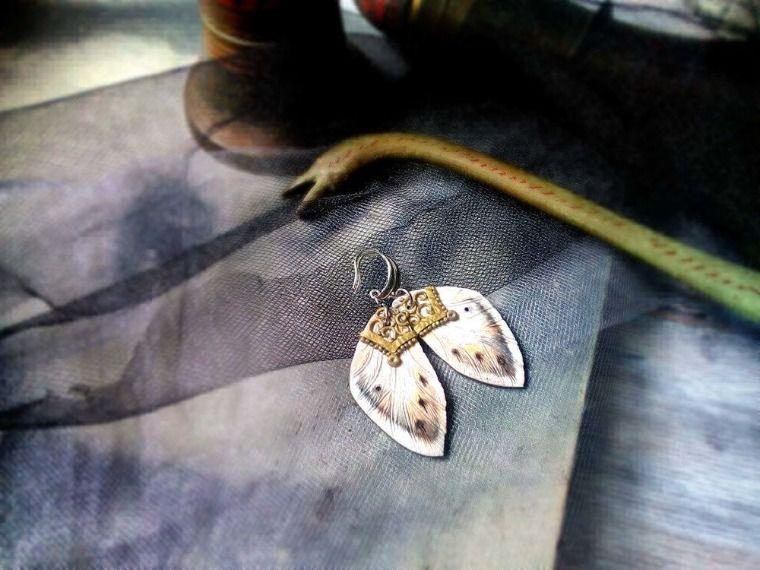 Создаем весенние серьги из полимерной глины «Крылья мотылька», фото № 1