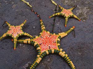 Делаем из полимерной глины кулон и серьги морская звезда «Iconaster longimanus». Ярмарка Мастеров - ручная работа, handmade.