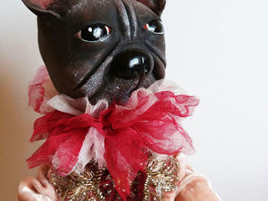 Собака. Французский бульдог. Будуарная кукла.. Ярмарка Мастеров - ручная работа, handmade.
