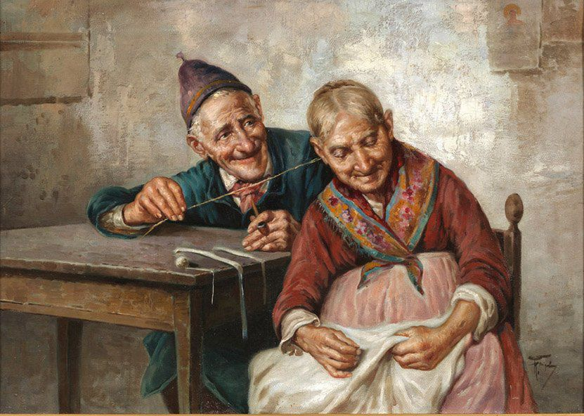 Когда есть чем заняться — стареть некогда: душевные картины о бабушках-рукодельницах, фото № 70