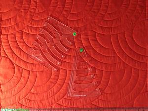 Радиальная регулярная стежка одеял с циркульной линейкой на машинке. Ярмарка Мастеров - ручная работа, handmade.