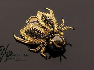 Пчёлка Золотая. Брошь. Ярмарка Мастеров - ручная работа, handmade.