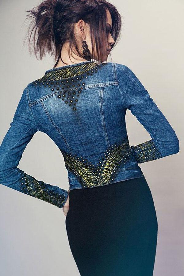 Многообразный декор джинсовых курток: 50 интересных вариантов, фото № 46