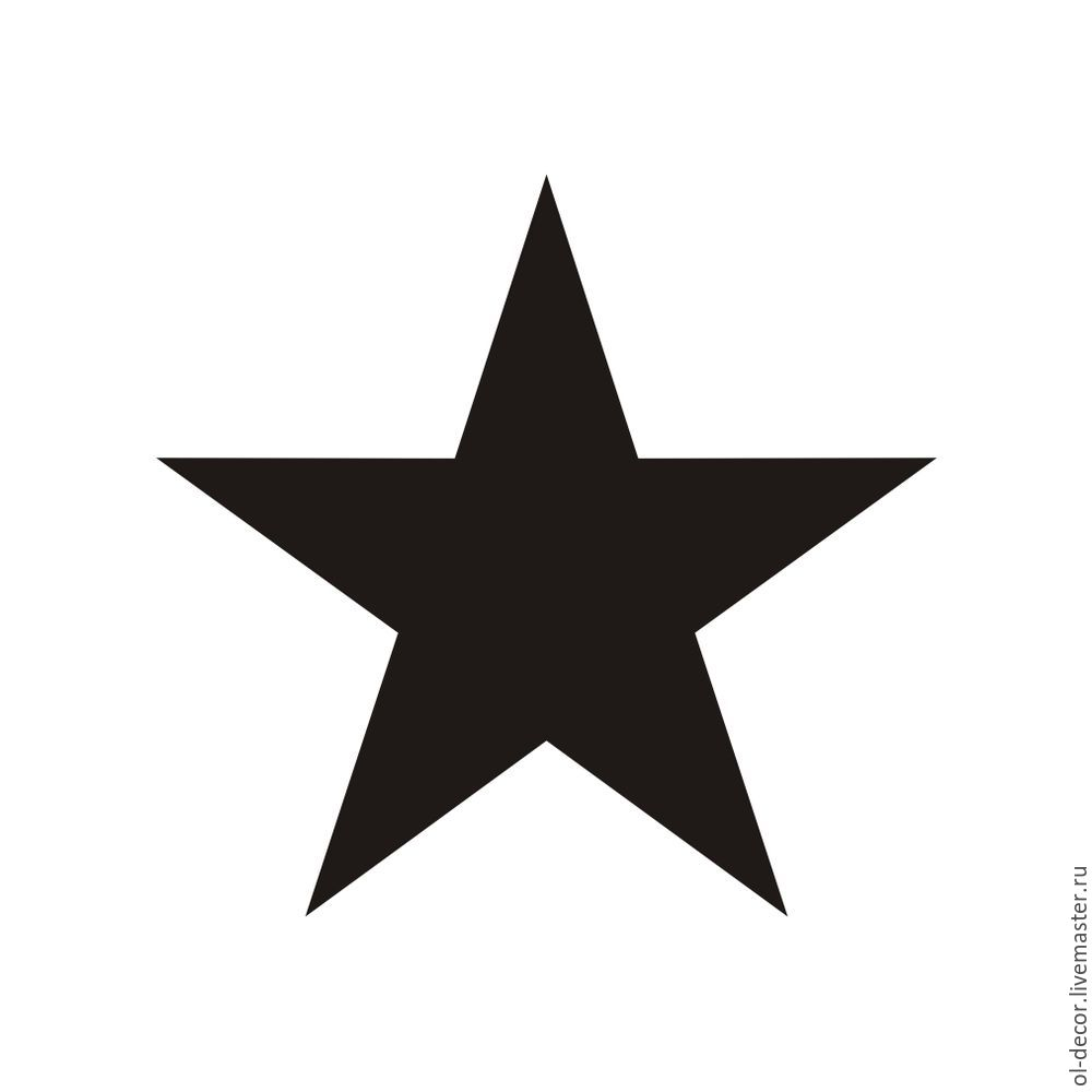 звезда, ручная роспись