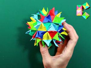 Видео мастер-класс: шар-кусудама «Гортензия». Ярмарка Мастеров - ручная работа, handmade.