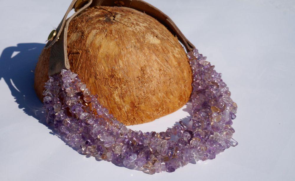 аметрин, свойства камней, камни, украшени с камнями, блог, tsdesign, колье с аметрином