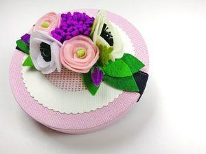 Делаем из фетра повязку с цветами. Ярмарка Мастеров - ручная работа, handmade.
