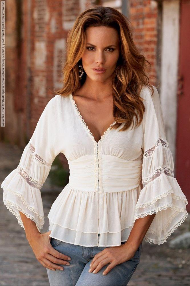 Белое бохо, или Шикарная одежда для королевы летнего пляжа, фото № 114