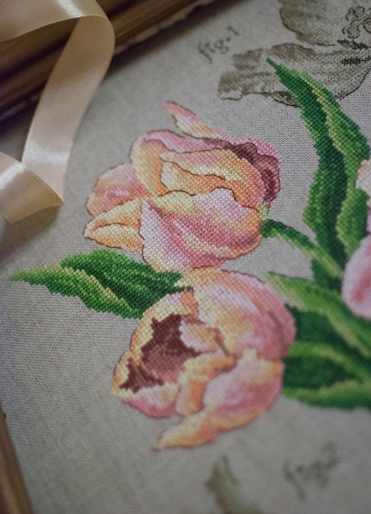 ботаника, вышивка крестиком