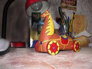 Идеи для творчества своими руками. Игрушки. Лошадки на колесах. | Ярмарка Мастеров - ручная работа, handmade