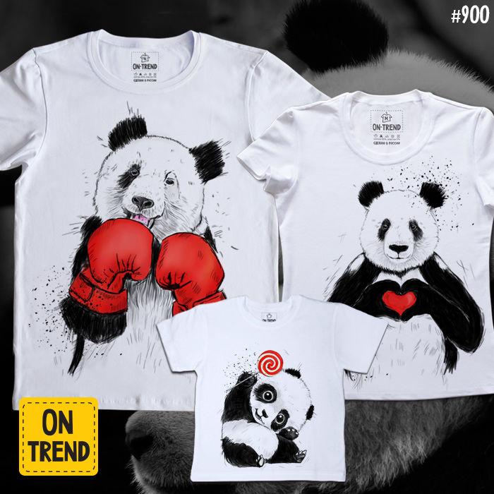 акция магазина, выгодная цена, панды, футболка, женская одежда, детская одежда
