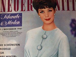 Neuer Schnitt — старый немецкий журнал мод 11/1961. Ярмарка Мастеров - ручная работа, handmade.