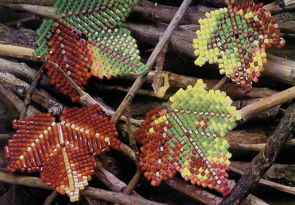 картинки листьев из бисера школу
