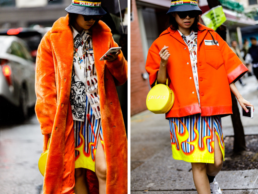 Фрик-шоу на улицах Нью-Йорка: 25+ вызывающих образов гостей Недели моды