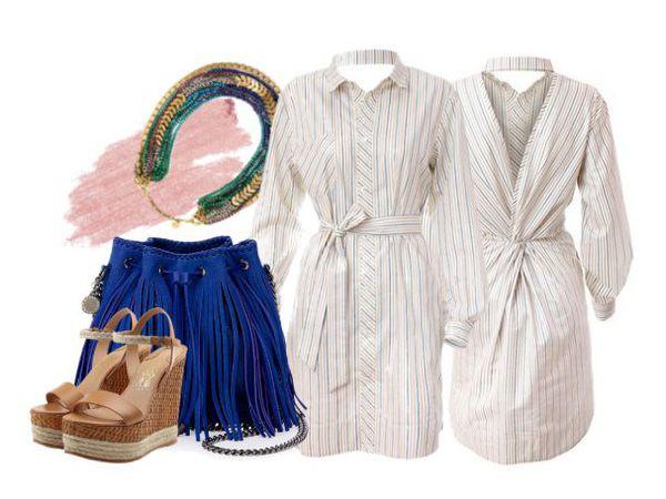Платье-рубашка Сила Притяжения - свежие образы | Ярмарка Мастеров - ручная работа, handmade