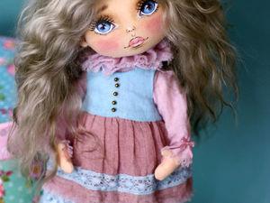 Текстильная кукла на шплинтовых креплениях из мини коллекции